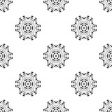 Dirigez la configuration sans joint Répétition géométrique Se noir et blanc Images libres de droits