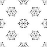 Dirigez la configuration sans joint Répétition géométrique Se noir et blanc Image stock