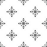 Dirigez la configuration sans joint Répétition géométrique Se noir et blanc Photo stock