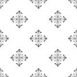 Dirigez la configuration sans joint Répétition géométrique Se noir et blanc Photographie stock