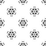 Dirigez la configuration sans joint Répétition géométrique Se noir et blanc Images stock