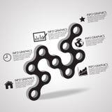 Dirigez la connexion de concepts d'affaires de cercle avec des icônes, l'illustration ENV 10 Image libre de droits