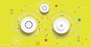 Dirigez la couleur de yello d'illustration et la roue de vitesse sur la carte illustration de vecteur