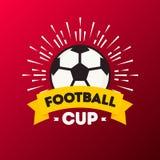 Dirigez la couleur rouge de fond de tournoi du football de tasse du football du monde d'illustration illustration libre de droits