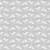 Dirigez la croix en spirale du papier 3D de damassé d'art de modèle de triangle sans couture du fond 365 Photographie stock