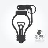 Dirigez la déformation d'ampoule du concept de grenade de l'idée Conception Image libre de droits