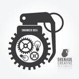 Dirigez la déformation de vitesse du moteur de concept de grenade de l'idée Photos stock