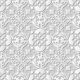 Dirigez la fleur croisée ronde du fond 226 sans couture de modèle d'art du papier 3D de damassé Photos libres de droits