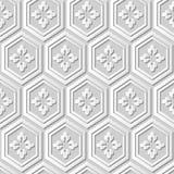 Dirigez la fleur sans couture de polygone du fond 369 de modèle d'art du papier 3D de damassé illustration de vecteur