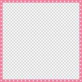 Dirigez la frontière carrée rose et blanche faite en copie animale de pattes d'isolement illustration de vecteur