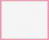 Dirigez la frontière de rose et blanche faite en copie animale de pattes d'isolement illustration stock