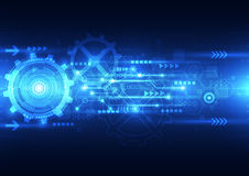 Dirigez la future technologie d'ingénierie abstraite, fond électrique de télécom illustration de vecteur