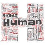 Dirigez la liberté politique de droits de l'homme, lettre de démocratie Image libre de droits