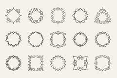 Dirigez la ligne emblèmes et badges des cadres pour le logo ou Photographie stock libre de droits