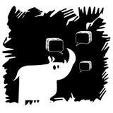 Dirigez la nature sauvage de bande dessinée mammifère animale de rhinocéros de rhinocéros illustration libre de droits