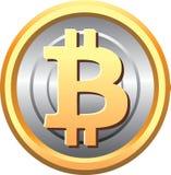 Dirigez - la pièce de monnaie Bitcoin a isolé l'icône illustration libre de droits