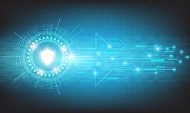 Dirigez la sécurité de technologie de cercle avec la diverse conception technologique Images libres de droits