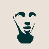 Dirigez la silhouette Vue de face de visage Images libres de droits