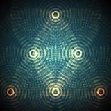 Dirigez la sphère abstraite des particules, rangée de points Illustration futuriste de vecteur Éclaboussure numérique de technolo Photos libres de droits