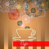 Dirigez la tasse de café avec de la fumée, concept d'idée Photographie stock libre de droits