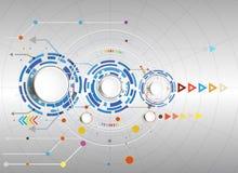 Dirigez la technologie de pointe numérique d'illustration et d'ingénierie de télécom Images libres de droits
