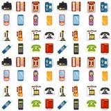 Dirigez la technologie sans couture de dispositif de connexion de fond de modèle de rétro téléphone de lod de téléphones de vinta Photo stock