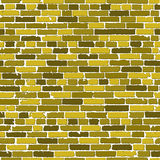 Dirigez la texture sans couture mur de briques réaliste d'or du vieux avec des ombres illustration libre de droits