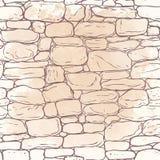 Dirigez la texture tirée par la main du mur de briques ou du pavé (le pavage) Seamle illustration libre de droits