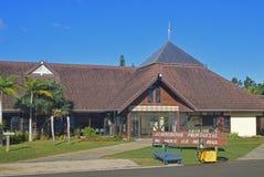 Dirigez la vue de face de l'aéroport des goupilles île, Nouvelle-Calédonie de DES d'Ile Images libres de droits