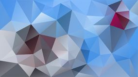 Dirigez le bas poly modèle de triangle polygonale de fond - couleur de bleu de ciel, grise et magenta Photos libres de droits
