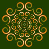 Dirigez le beau fond avec l'ornement circulaire sur un modèle vert de fond photographie stock libre de droits