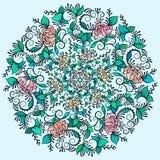 Dirigez le beau mandala de découpe coloré par Deco, élément modelé de conception, amulette ethnique illustration stock