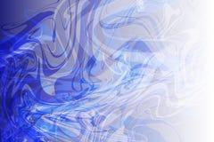 Dirigez le bleu abstrait au fond onduleux ombragé par blanc, papier peint illustration libre de droits