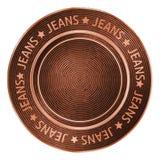 Dirigez le bouton de couture en bronze de denim dans le style de vintage illustration libre de droits