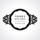Dirigez le cadre avec l'ornement classique dans le style victorien Images stock