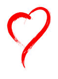 Dirigez le cadre de forme de coeur avec la peinture de brosse d'isolement Image stock