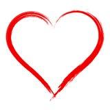 Dirigez le cadre de forme de coeur avec la peinture de brosse d'isolement Photographie stock libre de droits