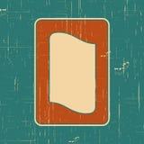 Dirigez le cadre de frontière de vintage avec le rétro modèle d'ornement dans la conception décorative de style antique Vieille t Photo libre de droits
