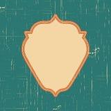 Dirigez le cadre de frontière de vintage avec le rétro modèle d'ornement dans la conception décorative de style antique Vieille t Images libres de droits