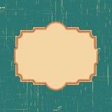 Dirigez le cadre de frontière de vintage avec le rétro modèle d'ornement dans la conception décorative de style antique Vieille t Images stock