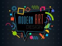 Dirigez le cadre dynamique géométrique abstrait Art Design moderne de modèle illustration stock