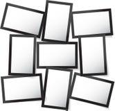 Dirigez le cadre pour des photos et des photos, collage de photo, puzzle de photo Présentation de marquage à chaud de conseil d'h illustration de vecteur