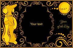 Dirigez le calibre avec l'horoscope chinois de signe - chien Image stock