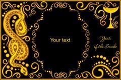 Dirigez le calibre avec l'horoscope chinois de signe - serpent Photo stock