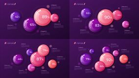 Dirigez le calibre coloré pour créer l'infographics, présentation illustration de vecteur