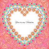 Dirigez le calibre de carte de voeux au jour du ` s de valentine Milieux du ` s de félicitation avec le modèle romantique, le coe Photographie stock libre de droits