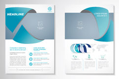 Dirigez le calibre de disposition de conception d'insecte de brochure, la taille A4, le frontpage et secondaire, infographics Fac Photo libre de droits