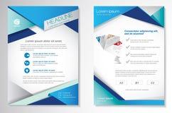 Dirigez le calibre de disposition de conception d'insecte de brochure, la taille A4, le frontpage et secondaire, infographics Fac Photographie stock libre de droits