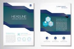 Dirigez le calibre de disposition de conception d'insecte de brochure, la taille A4, le frontpage et secondaire, infographics Fac Image stock