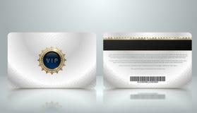 Dirigez le calibre de la carte métallique argentée d'adhésion ou de fidélité VIP avec le modèle géométrique de luxe Conception d' illustration stock